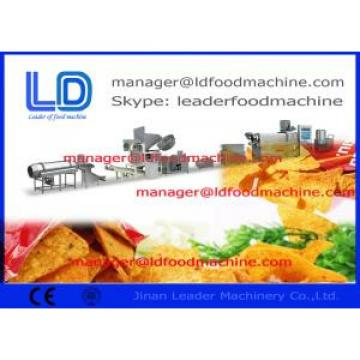 Fried Square Doritos Corn Chips Making Machine , 220kg / h Extruded Snacks Machinery