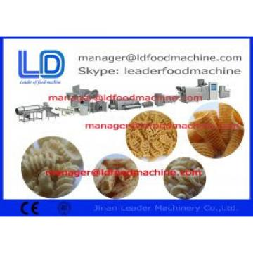 Screw shell Extruded Pellet Frying Snacks Machine / Extruded Snacks Machinery