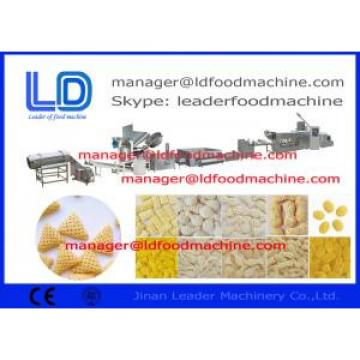 Three Phase 3d Snack Pellet Machinery Screw Shell Chips Pellet Extruding Process Line