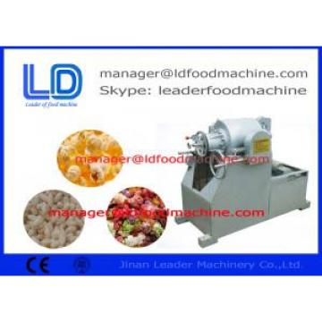 Air flow extrusion popcorn machine