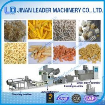 Small scale pellet frying food processing single screw extruder machine