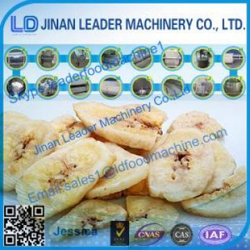 Banana Fruit chips process line -Jinan Leader Machinery