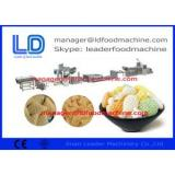 Puffed Food 3D Snack Pellet Machinery / Single Screw Extruder