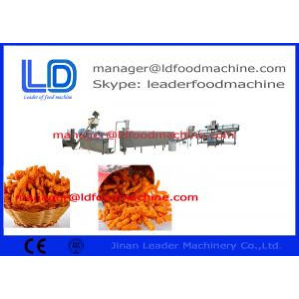 Automatic Cheese Ball / Corn Curl / Kurkure Snacks Making Machine Of Rotary Head Extruder #1 image