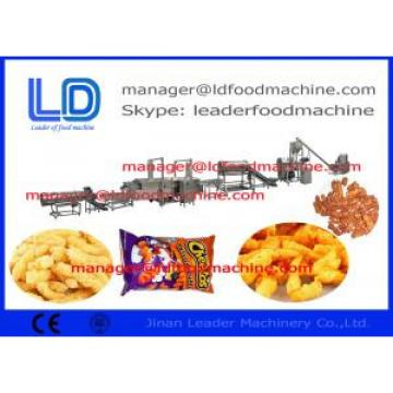 Cheese Curls Kurkure Making Machine / 3 Phase 380V Frying Food Processing Equipment