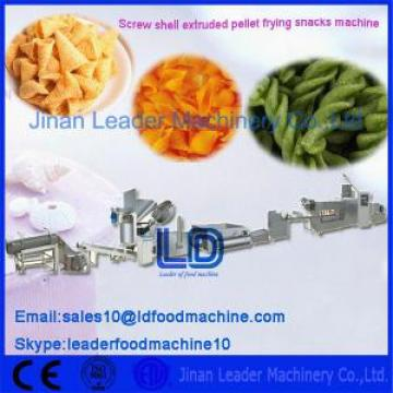 Screw Waved Chips Extruded Pellet Frying Snacks Machine , Food Process Line
