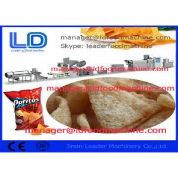 Fried Square Doritos Corn Chips Making Machine , 220kg/h Extruded Snacks Machinery